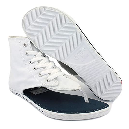 d2424105fabb54 Converse All Star CT Thong Sandal Hi 522256 Womens Laced Canvas Sandals  White - 5  Amazon.co.uk  Shoes   Bags