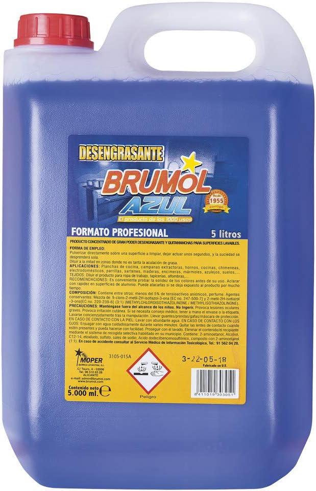 Brumol Desengrasante Azul - Paquete de 3 x 5000 ml - Total: 15000 ml: Amazon.es: Salud y cuidado personal