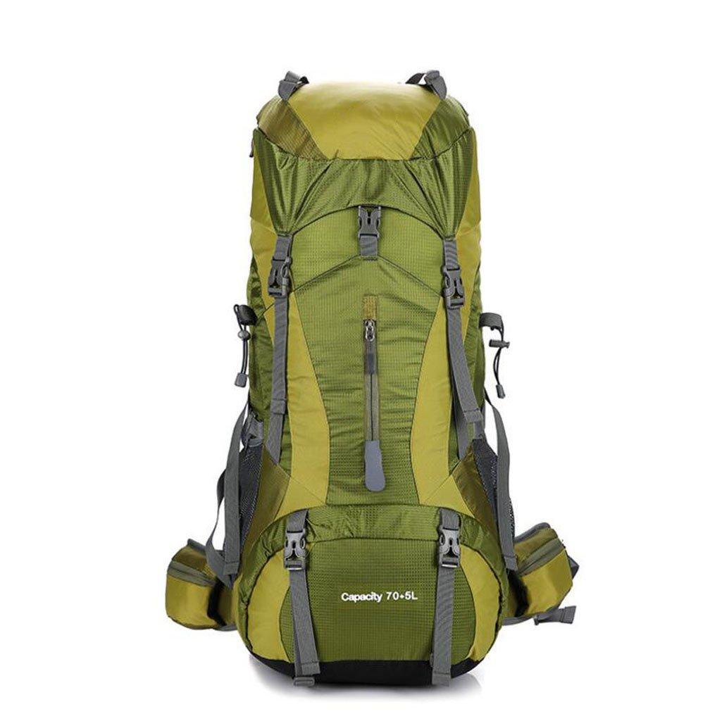 JBHURF Bergsteigenbeutel im Freien kampierende Schulterbeutel der Großen Kapazität 75 + 5L beiläufige Art und Weise Mann- und Frauenumhängetasche (Farbe : Grün)