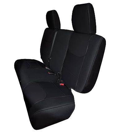 Super Leader Accessories Black Jeep Wrangler Seat Cover Rear 60 40 Custom Fit For 2013 2014 2015 2016 2017 Jk 4 Door Machost Co Dining Chair Design Ideas Machostcouk