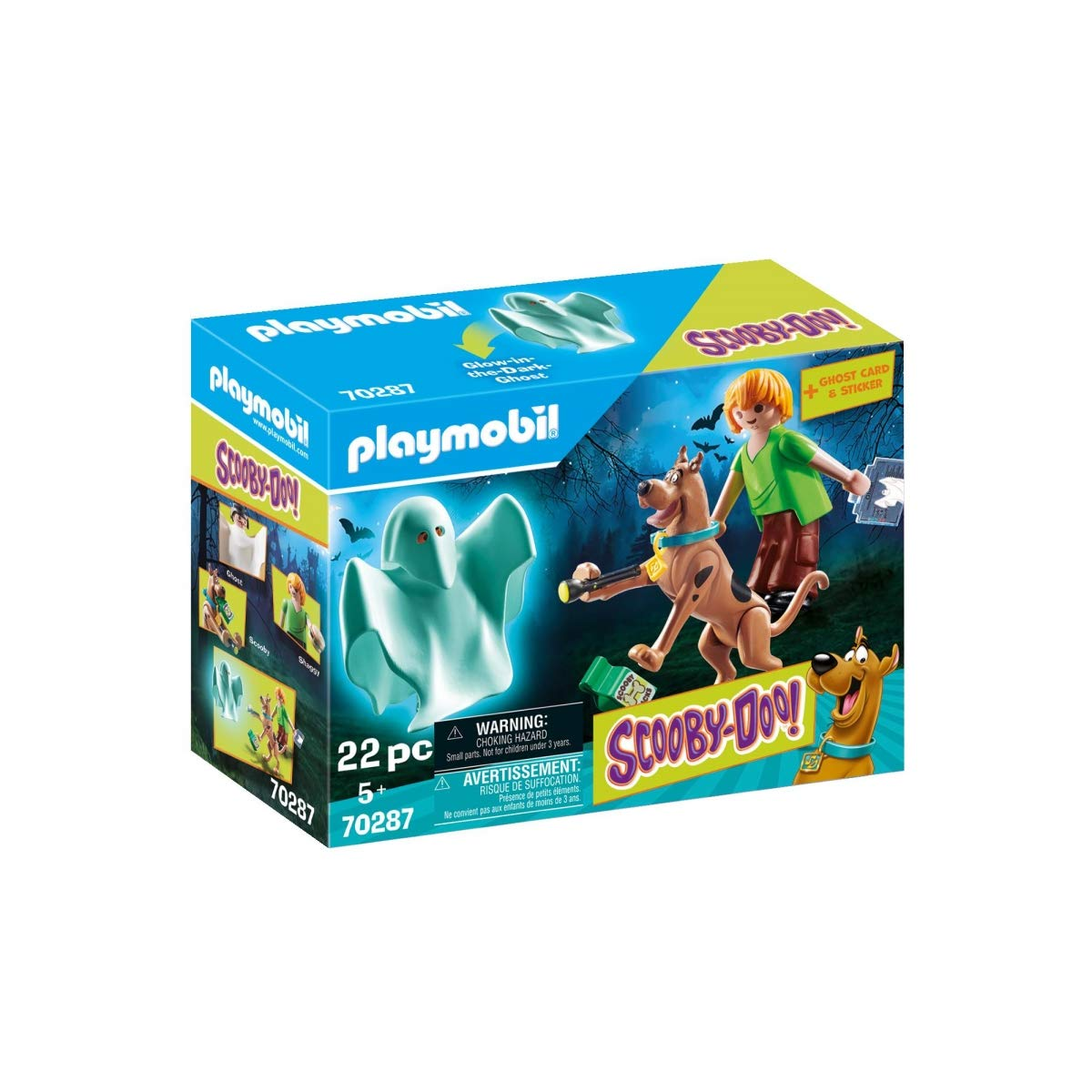 PLAYMOBIL 70287 Scooby-DOO! Scooby y Sammy con Fantasma ...