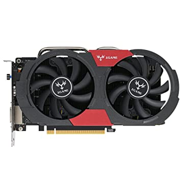 Docooler Colorful NVIDIA GeForce GTX iGame 1050Ti GPU 4GB 128bit Gaming 4096M PCI-E X16 3.0 Vídeo Tarjeta Gráfica DP del Puerto DVI + HDMI + con dos ...