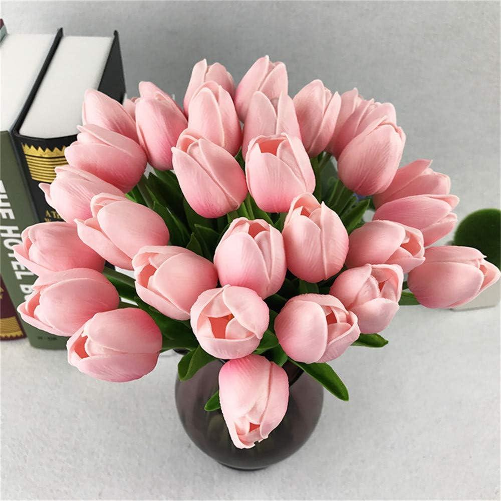 Tulip Artificial Flower Latex Real Touch Bridal Wedding Bouquet Home Decor,10pcs