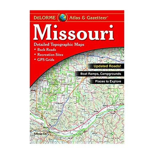 Garmin Delorme Atlas & Gazetteer Paper Maps- Missouri, AA-008865-000 - Missouri State Map