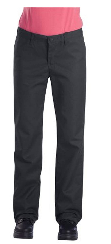 Dickies FP325 Women's Comfort Waist Flat front Pant-CHARCOAL-14 x UU