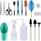 Joyclub 16 Pieces Succulent Tools Mini Garden Hand Tools Miniature Garden Planting Transplanting Tool Set