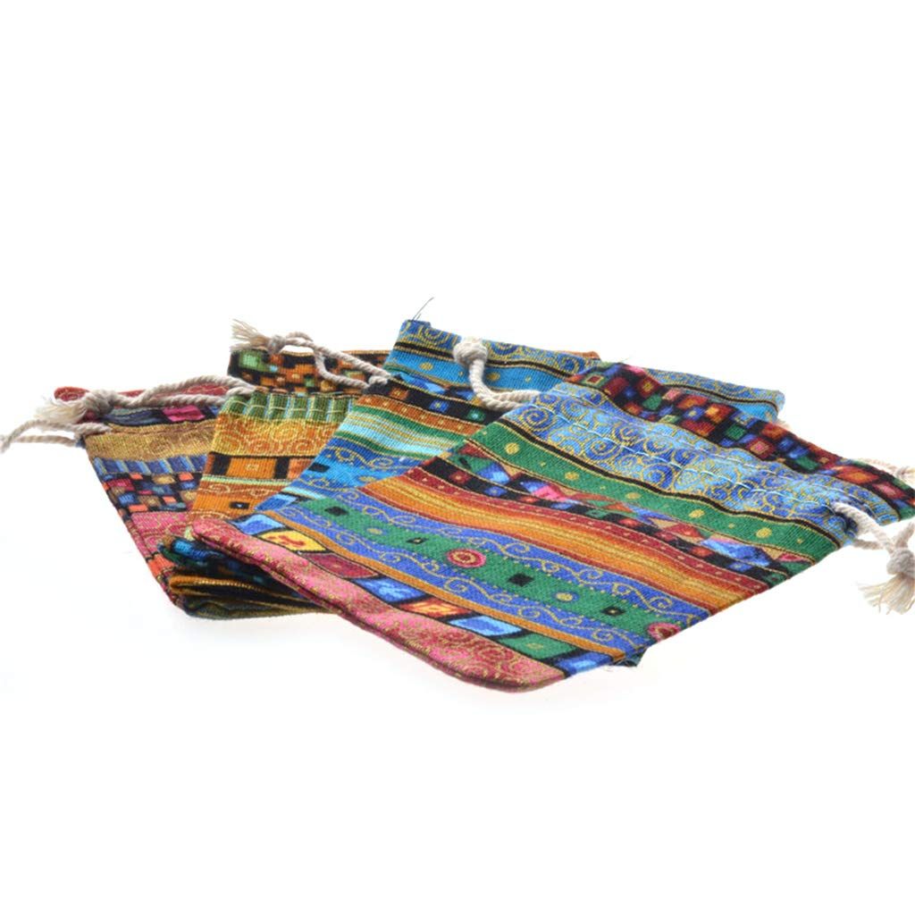 12 Sacchetti Portamonete in Stile Etnico Yinuneronsty