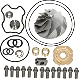 Turbo Compressor Wheel and Turbo Rebuild Kit for Ford 7.3L Powerstroke Turbochargers TP38 GTP38 (