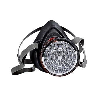 Magideal media cara Antigas máscara protectora máscara de pintura en spray para Gas polvo pintura spray