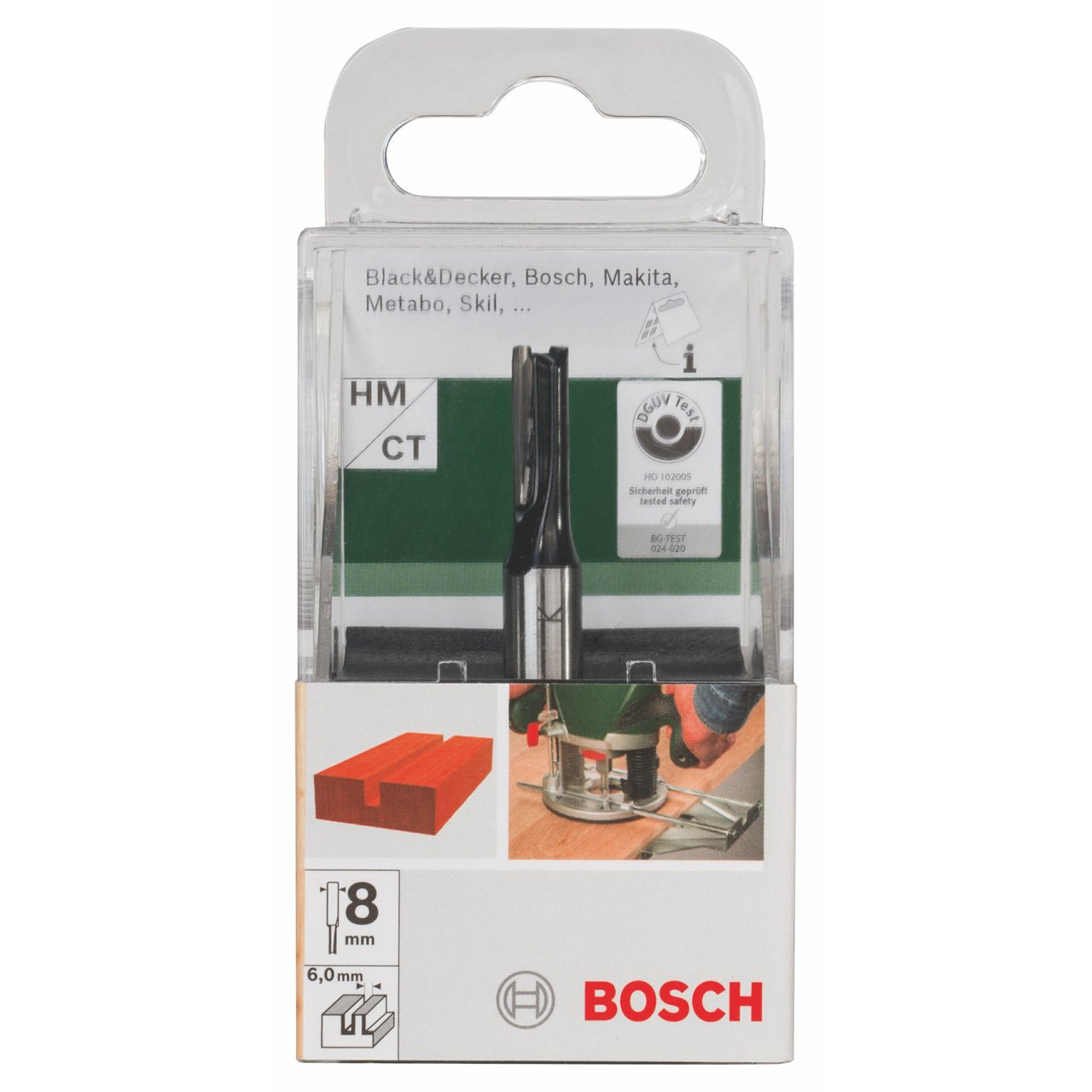 Bosch 2609256612 Fraise /Ã/ rainurer droit pour Assemblage Diam/Ã/¨tre 6 mm Diam/Ã/¨tre de queue 8 mm Profondeur de coupe 16 mm