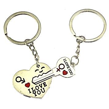 iFashion 1 par de Clave A Mi Corazón lindo pareja llavero ...
