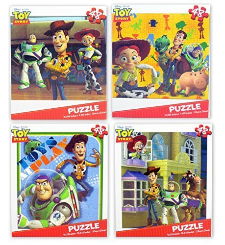 Disney Pixar Toy Story Children's Puzzles - Variety Pack (4 Total) -