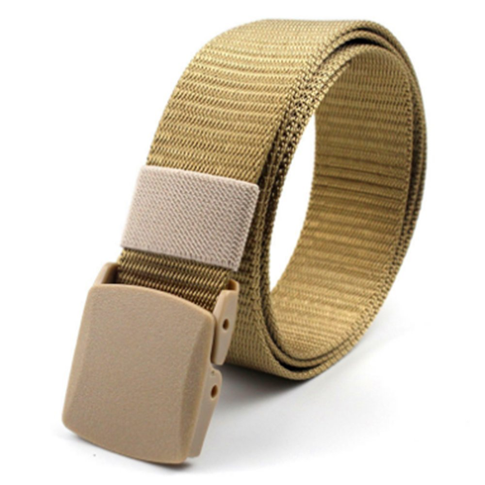Nylon Military Belt with Plastic Buckle Breathable Outdoor Canvas Webbing Belt for Men