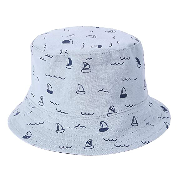 493489a1d05 asiproper Spring Infants Cute Print Casual Fisherman Cap Baby Outdoor  Windproof Street Sun Flat Bucket Hat