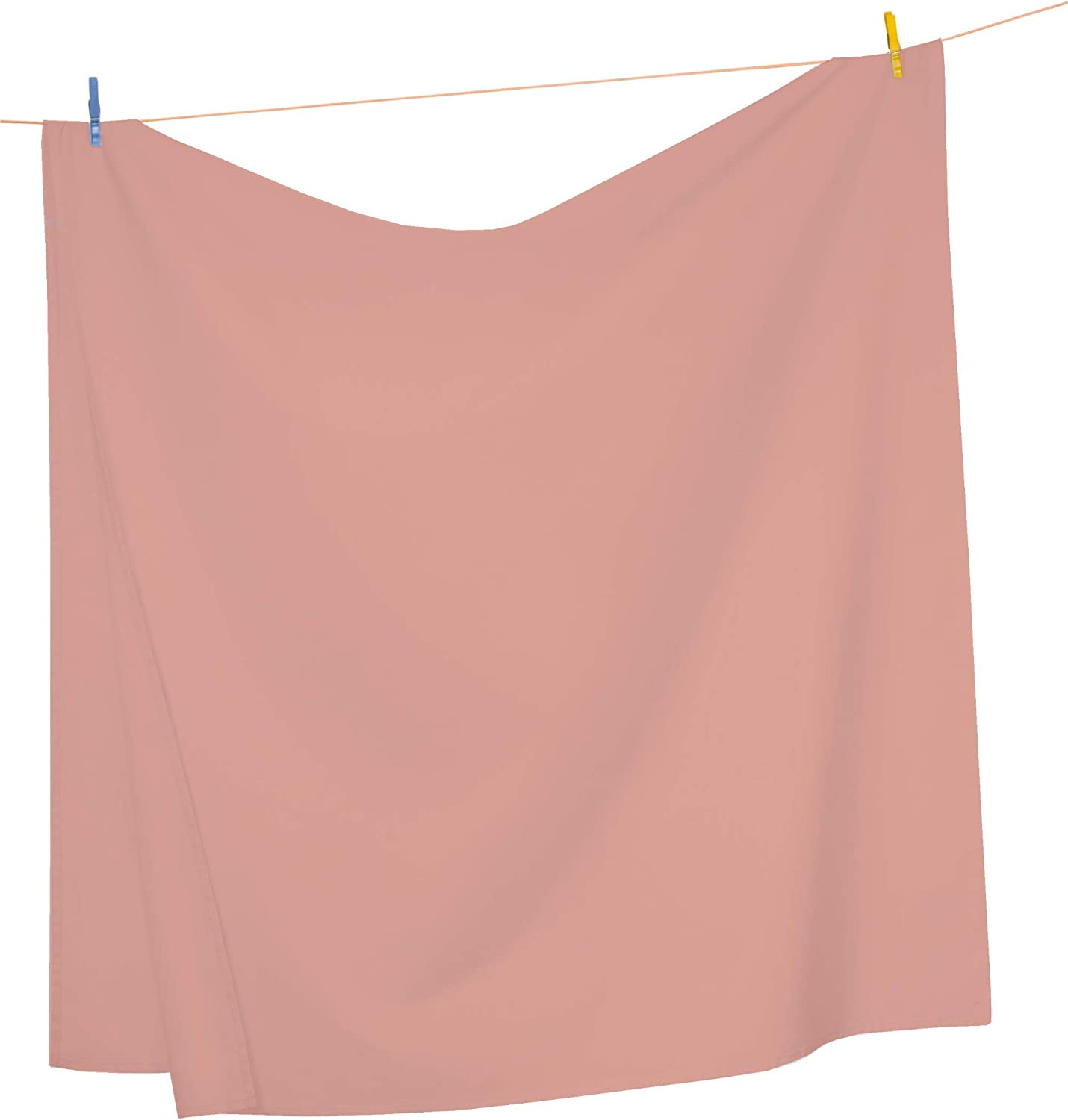 Mezzati Top Flat Sheet Only - Soft and Comfortable 1800 Prestige Collection – Brushed Microfiber Bedding (Coral Rose, Full Size)