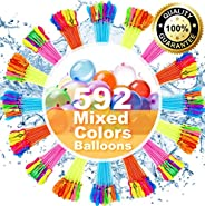 Water Balloons for Kids Girls Boys Balloons Set Party Games Quick Fill 592 Balloons for Swimming Pool Outdoor