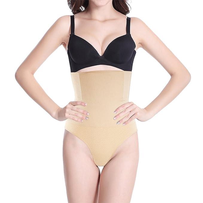28396449e Shymay Women s Thong Shapewear Bamboo High Waist Tummy Control Thong Body  Shaper at Amazon Women s Clothing store
