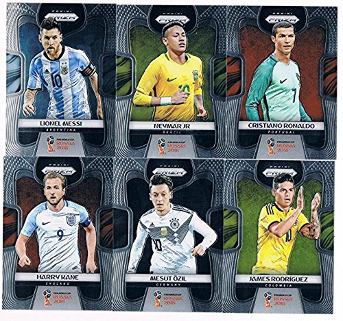 2018 Panini Prizm World Cup Hand Collated Complete Soccer Futbol Set of 300 Cards Lionel Messi Cristian Ronaldo Neymar Mbappe Paul Pogba and many more... France England Portugal Croatia Brazil Argentina... from Panini Prizm World Cup