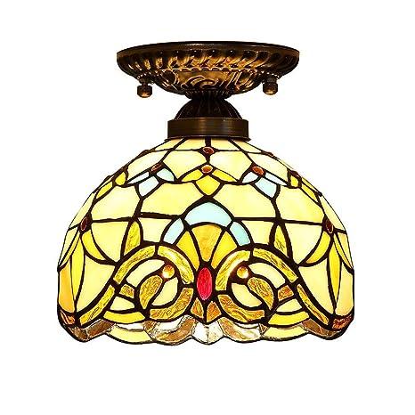 ☞ Tiffany Lámpara de techo con estilo rústico Luces de ...