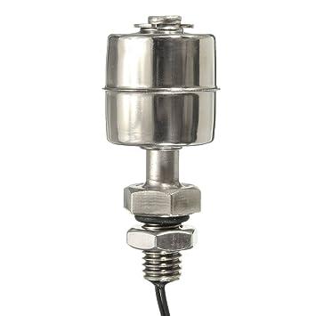 Bazaar 10W 110V sensor de nivel de agua de acero inoxidable interruptor de flotador vertical de controlador de nivel de líquido de la piscina: Amazon.es: ...