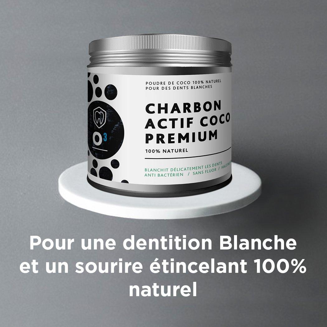 Tillmann\'s Poudre de Charbon Blanchissante //Pot plus grand : 80gr// Charbon Dent Blanche-Pour un Sourire blanc et éclatant / Charbon actif 100% Naturel de Noix de Coco