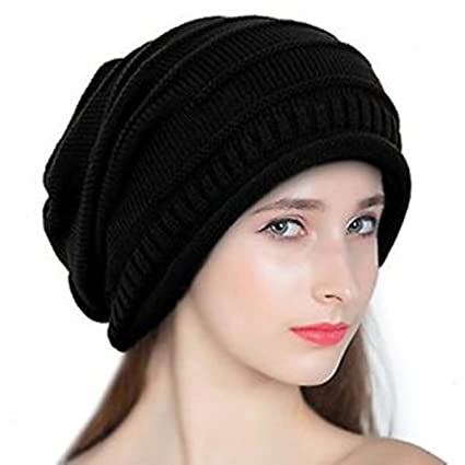 Buy Babji Black Slouchy Woolen Long Beanie Cap for Winter Online at Low  Prices in India - Amazon.in 590ba35f7d