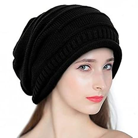 4f170abeab3 Buy Babji Black Slouchy Woolen Long Beanie Cap for Winter Online at Low  Prices in India - Amazon.in