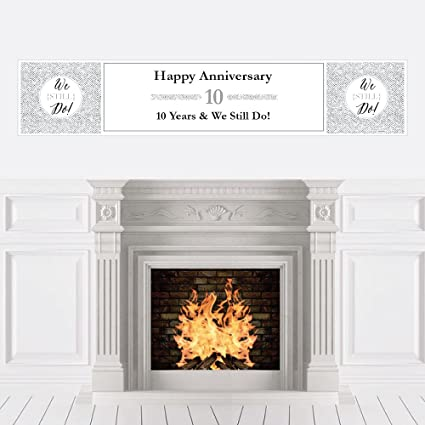 Amazon Com Big Dot Of Happiness We Still Do 10th Wedding