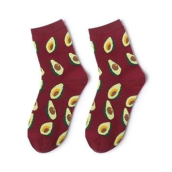 MZWZSCL Ilustración De Algodón Fruta para Mujer En Medias De Tubo Patrón Creativo Calcetines Sudorosos (5 Piezas Juego), Aguacate: Amazon.es: Deportes y ...