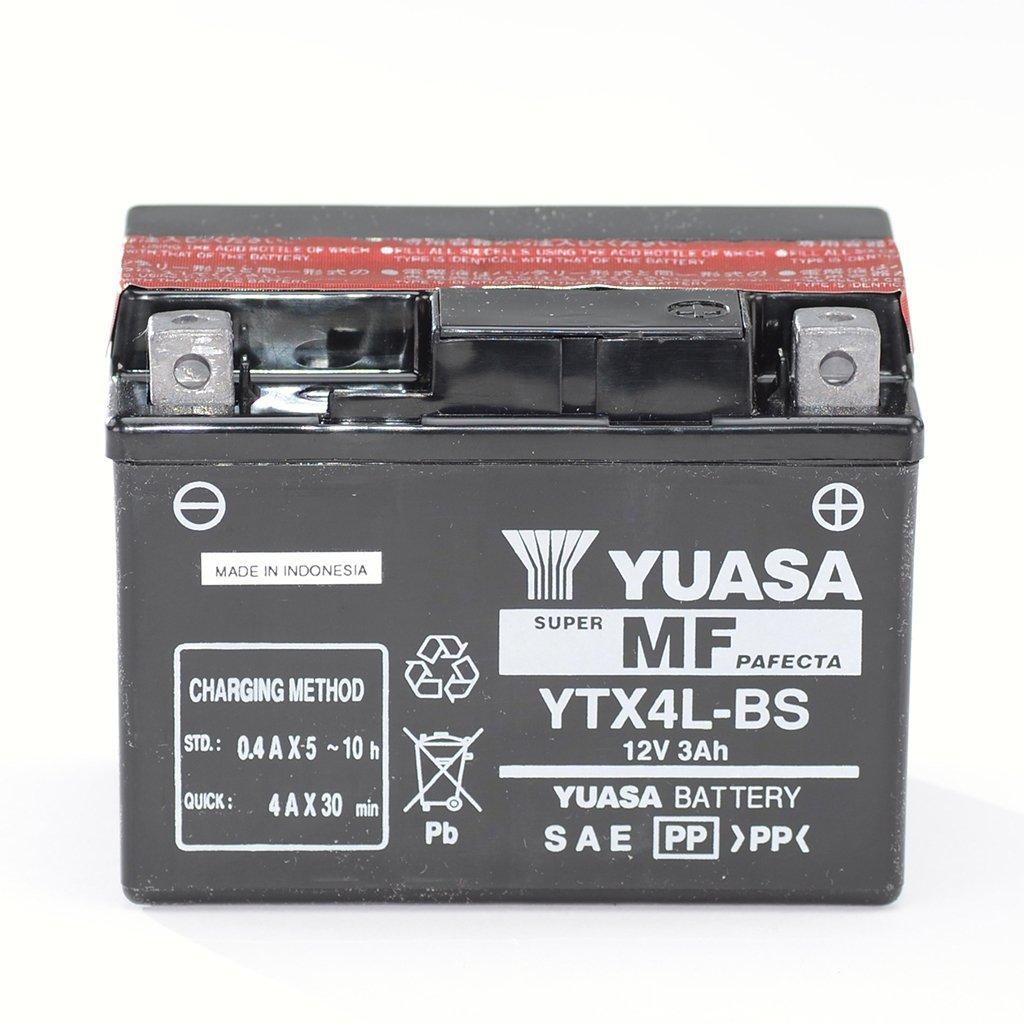 Batterie 12V 3AH YTX4L-BS Aeon Cobra Adly ATV V Aeo Aeon Minikolt Adly Silver Fox 50 Aeon Revo Minikolt Adly Thunder Bike 50 TB50 Sans entretien Yuasa DIN 50314 pour Adly ATV AC