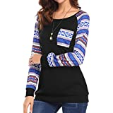 Mikey Store Women's Winter Sweatshirt Pullover Relaxed Fit Long Sleeve Sweatshirt Tunics Tops