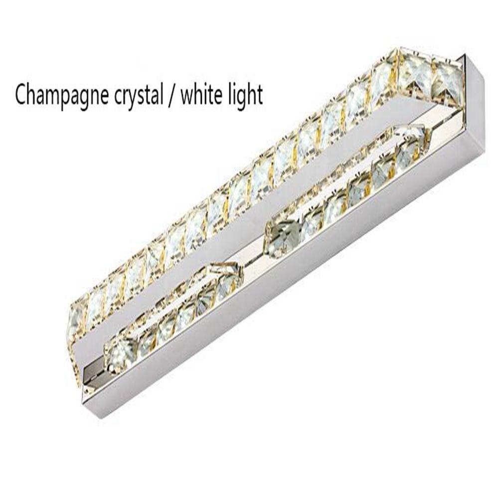 JIN Crystal Mirror Headlights Fashion Simple LED Bedroom Bathroom Bathroom Mirror Lamp Luxury Lamps , D , 56cm by DSGVFDSG (Image #1)
