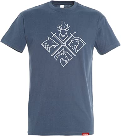 Camiseta Minimal Thrones - Juego de Tronos - Color Azul Denim ...
