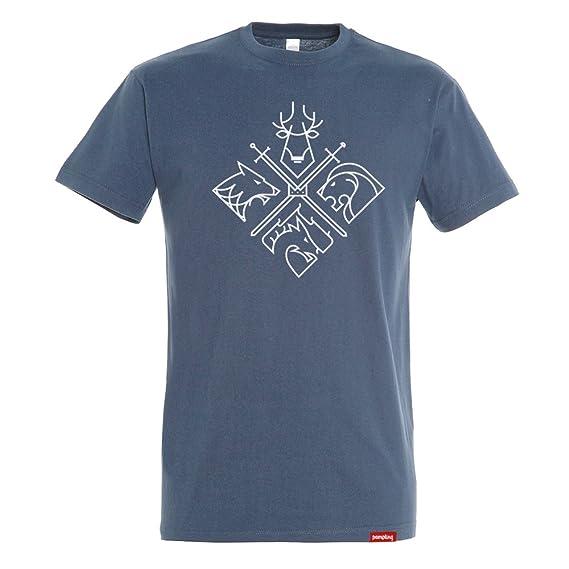 Camiseta Minimal Thrones - Juego de Tronos - Color Azul Denim ...