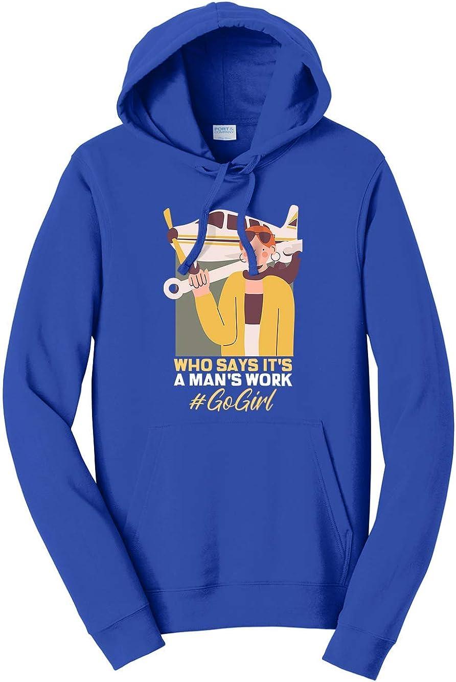 Tenacitee Unisex Plane Mechanic Who Says Its A Mans Work Hooded Sweatshirt