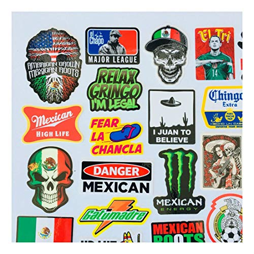 MEXICAN CHINGON Hard Hat Stickers 40 MEXICO HardHat Sticker Pegatinas cascos by Unknown (Image #9)