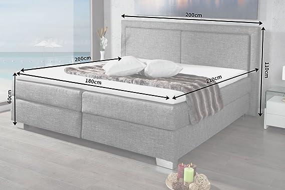 Invicta Interior Cama de Cama con somier Queens 180 x 200 cm Hotel Cama con colchón y núcleo de muelles: Amazon.es: Hogar
