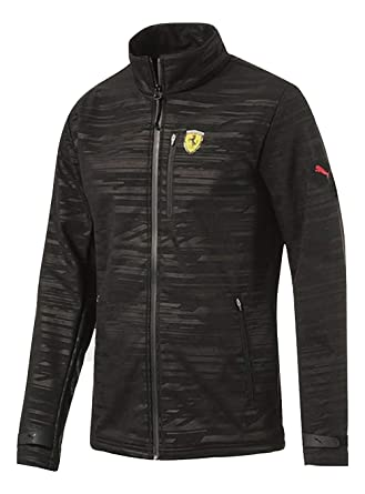 b924bb784bef PUMA SF Ferrari Softshell Jacket Black Size XL MSRP  140.00 at Amazon Men s  Clothing store