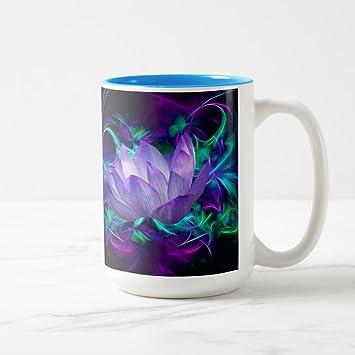 Amazon zazzle purple lotus flower and its meaning coffee mug zazzle purple lotus flower and its meaning coffee mug light blue two tone mug mightylinksfo