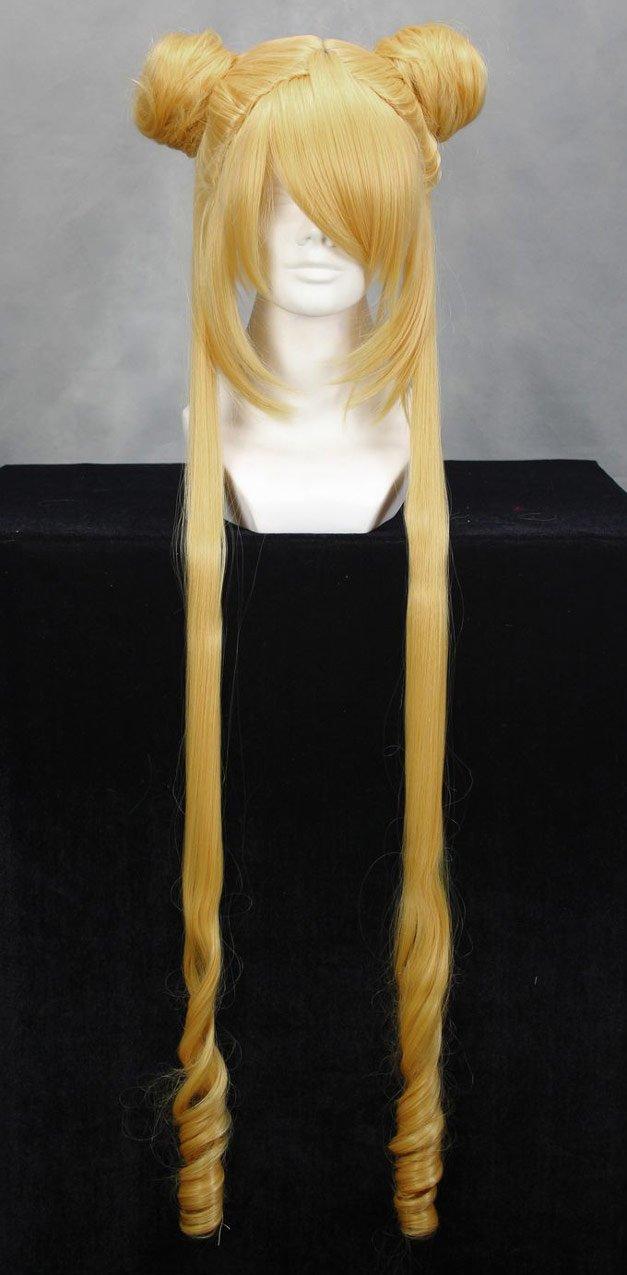 Peluca Blonde con edredones 90 cm, Cosplay Sailor Moon Tsukino Usagi: Amazon.es: Juguetes y juegos