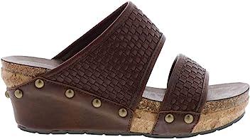 3ebc1eaff110 VOLATILE Women s Vittoria Double Banded EVA Slip-On Wedge Sandals