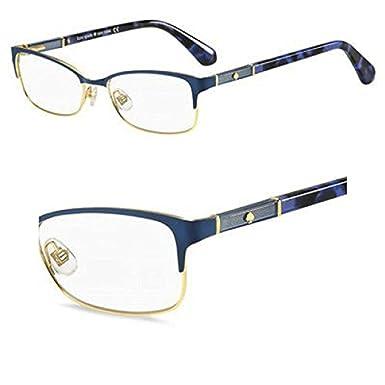 bf955926fc1c4 Image Unavailable. Image not available for. Color  Eyeglasses Kate Spade  Laurianne 0U1F Matte Blue Havana