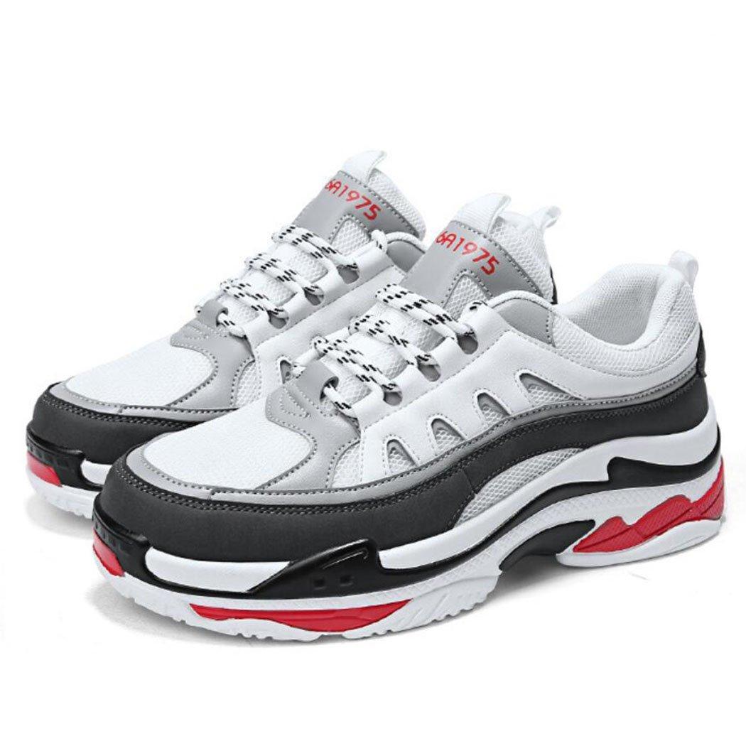 GAOLIXIA zapatillas de deporte de malla casual de los hombres forman los zapatos corrientes ligeros de la plataforma de los deportes de la aptitud (Color : Blanco, tamaño : 42) 42 Blanco
