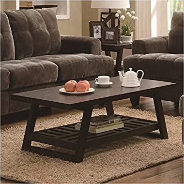 Coaster Home Furnishings 701868 Casual Coffee Table, Cappuccino