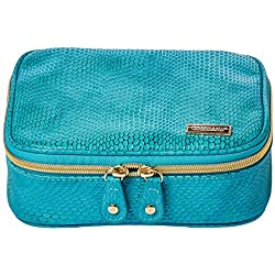 Stephanie Johnson Women's Havana Sherine Large Jewelery Case, Blue