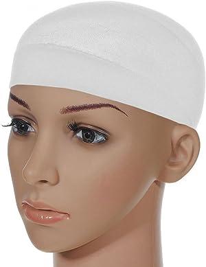 Unisex Stocking Wig Cap Snood Mesh Natural White Wig Caps (2pcs)