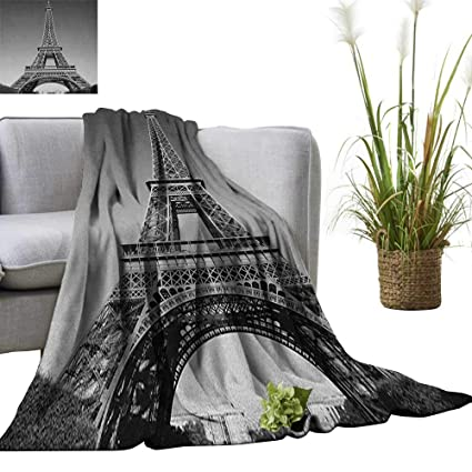 Amazon.com: Eiffel Tower Weave Pattern Extra Long Blanket ...