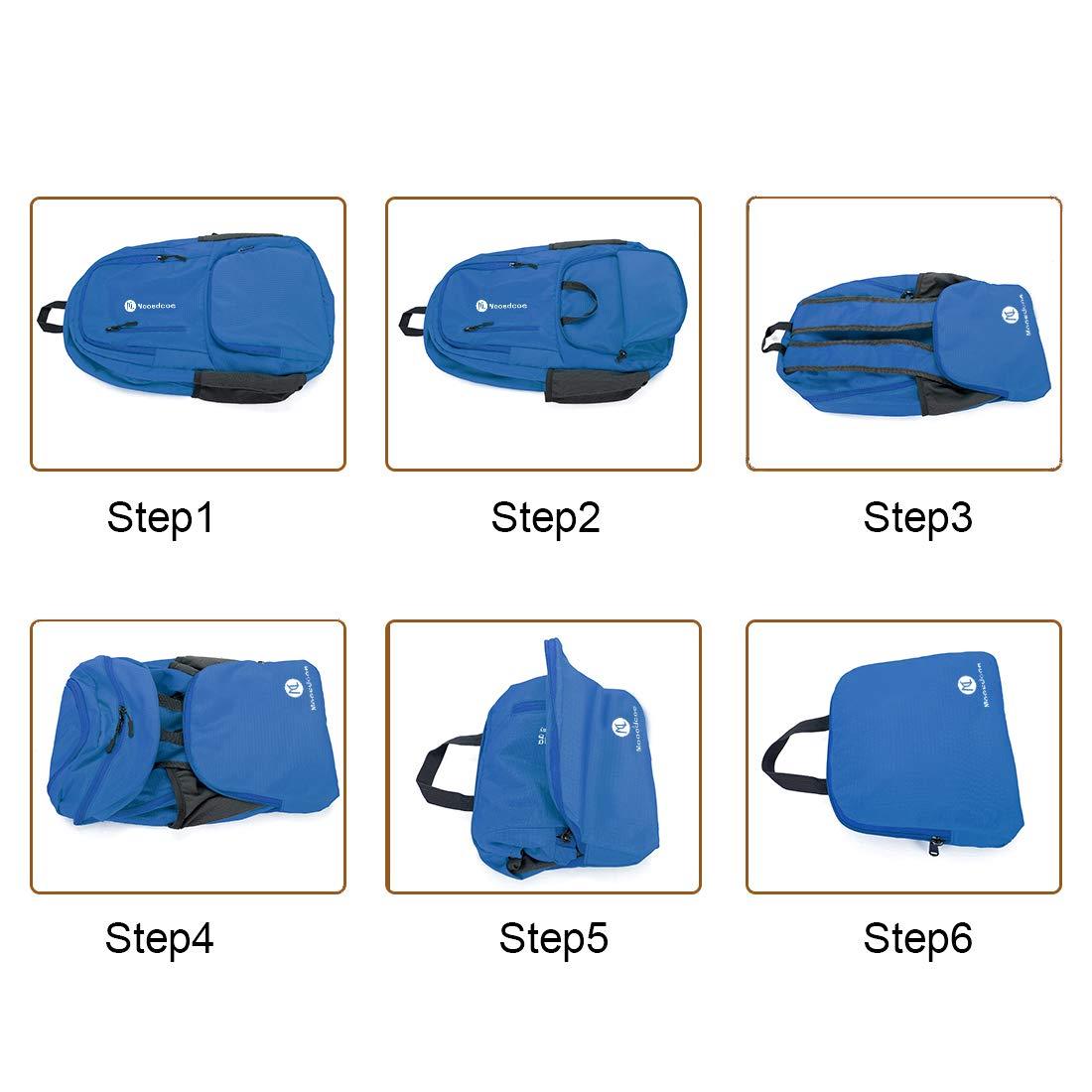 Mooedcoe Ultra Lightweight Packable Backpack Water Resistant Hiking Daypack Handy Foldable Camping Outdoor Backpacks Little Bag Orange