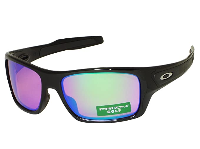 e862a298e99 Image Unavailable. Image not available for. Colour  Oakley Turbine  OO9263-30 Polished Black   Prizm Golf Sunglasses
