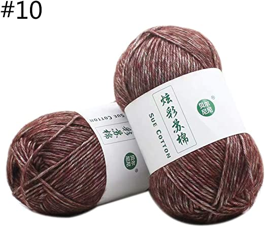 Ogquaton 100g Hilo de Tejer de algodón Hilo de Coser de Ganchillo ...